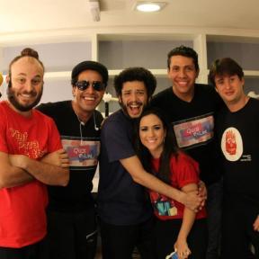 Viniciu e Vagner com Paulinho Serra e pessoal do 5ª categoria