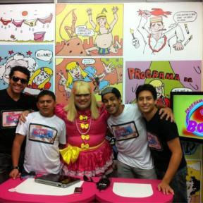 Turma no programa da babalu com Amadeu Maya