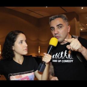 Larissa entrevistando Glayco Sales