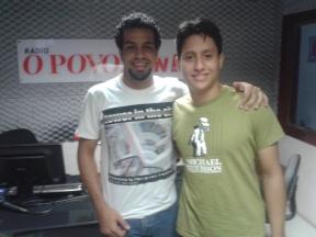 Vinicius e Paulo em entrevista na rádio O POVO / CBN